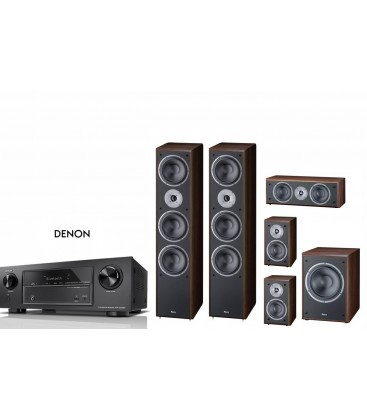 Receiver 7.2 DENON AVR-X1400H cu Set Boxe 5.1 Magnat Supreme 1002, 252 CENTER, 102, 202A