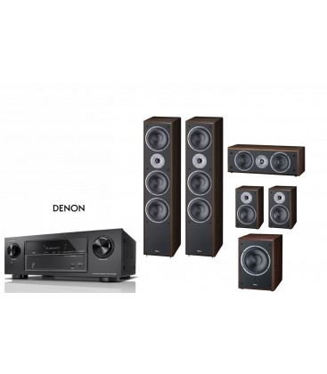 Receiver 7.2 DENON AVR-X1400H cu Set Boxe 5.1 Magnat Supreme 1002, 252 CENTER, 202, 302A