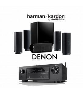 Receiver DENON AVR-X1400H cu Set Boxe 5.1 Harman Kardon HKTS 16