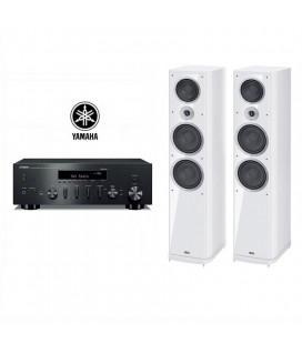 Receiver wi-fi stereo Yamaha R-N602 cu Boxe de podea Heco Music Style 1000