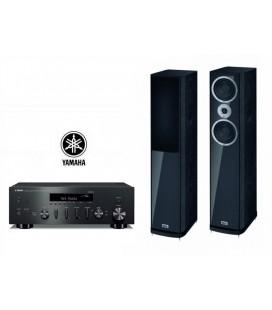 Receiver wi-fi stereo Yamaha R-N602 cu Boxe de podea Heco Music Style 500