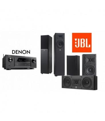 Receiver Denon AVR-X520BT cu Set Boxe 5.0 JBL Arena 170, 125C, 120 Black