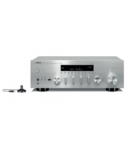 Receiver Stereo Yamaha R-N803 Silver, Wi-Fi, Bluetooth, Airplay, MusicCast, DAB, DAB+ Tuner, YPAO™