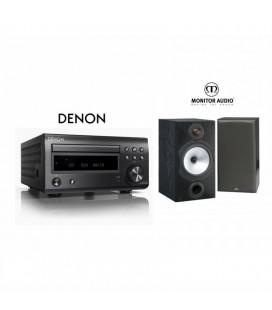 Micro sistem stereo Hi-fi Denon RCD-M41 Black cu Boxe Monitor Audio MR2