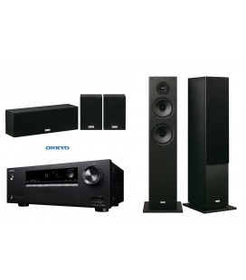 Receiver AV 5.1 Onkyo TX-SR252 Black cu set Boxe 5.1 Onkyo SKF-4800 si SKS-4800