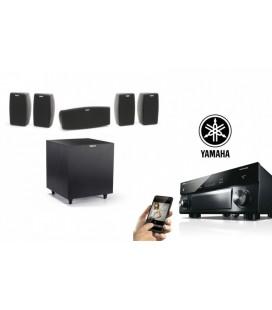 Network Premium Receiver AV 5.1 Yamaha RX-A1070 cu Set de Boxe 5.1 Klipsch Quintet si subwoofer R-8SW