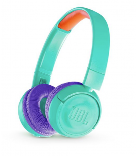 Casti on ear wireless cu Bluetooth® 4.0 JBL JR300BT Tropic Teal, Child Friendly