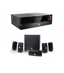 Network Receiver 5.1 JBL AVR101N cu Set Boxe 5.1 JBL Cinema 610