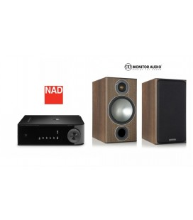 Amplificator stereo NAD D3020 cu Boxe Monitor Audio Bronze 2