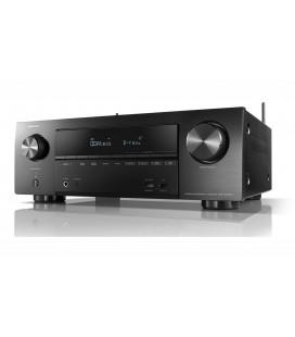 Receiver AV 7.2 Denon AVR-X1500H, 145W per channel, HEOS built-in, Wi-Fi, Airplay, Bluetooth, 4K Ultra HD, Hi-Res
