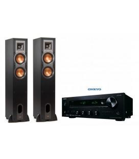 Bluetooth® Receiver Hi-Fi Stereo Onkyo TX-8220 Black cu set Boxe de podea Klipsch R-24F