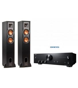 Amplificator Hi-Fi Stereo Onkyo A-9010 Black cu set Boxe de podea Klipsch R-24F