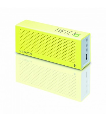Boxe wireless Audiovox TWIEK6 Yellow, boxa portabila bluetooth
