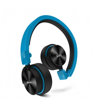 Casti AKG Y40 Blue, casti on ear mini cu microfon