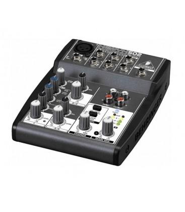 Mixer Behringer XENYX 502, audio profesional analog