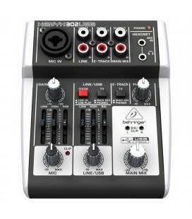 Mixer Behringer Xenyx 302USB, audio profesional analog cu USB