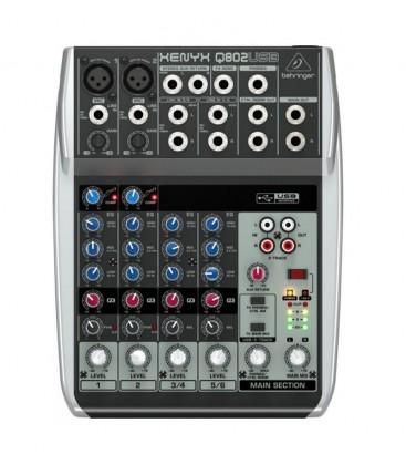 Behringer XENYX Q802USB, mixer audio analogic