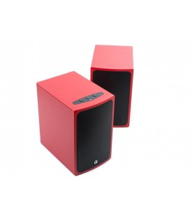 Boxe active Q Acoustics BT3 Red, hi-fi, wireless cu Bluetooth