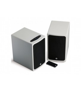 Boxe active Q Acoustics BT3 White, hi-fi, wireless cu Bluetooth