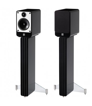 Q Acoustics Concept 20 Black + standuri, boxe de raft - pereche