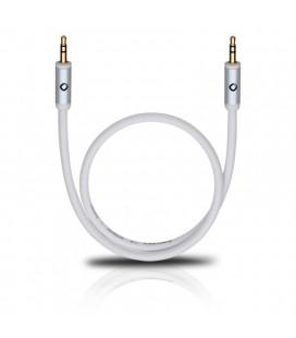 Cablu Oehlbach 60012 white 1.5m, audio stereo jack-jack 3.5 mm