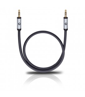 Cablu Oehlbach 60011 black 0.5m, audio stereo jack-jack 3.5 mm