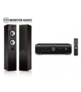 Amplificator stereo Denon PMA-520AE+Boxe Monitor Audio MR4