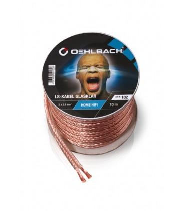 Cablu Oehlbach 102, cablu boxe 2x2.5 mm - rola 10m