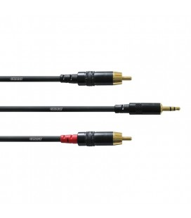 Cablu stereo interconect Cordial CFY 1.5 WCC jack 3.5-RCA, 1.5m
