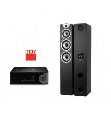 Amplificator NAD D3020 cu Boxe Boxe Dynavoice Magic F7 EX Black