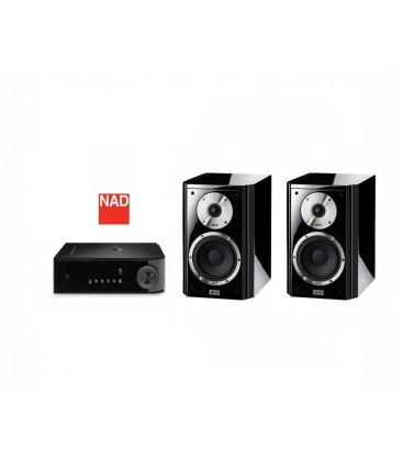 Amplificator stereo NAD D3020 cu Boxe Heco Aleva TC 200