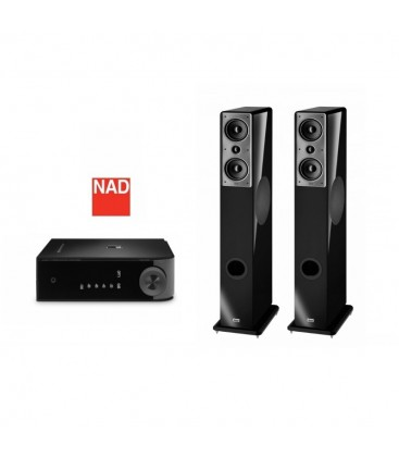 Amplificator stereo NAD D3020 cu Boxe Heco Music Colors 200
