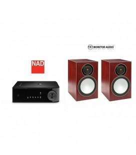 Amplificator stereo NAD D3020 cu Boxe Monitor Audio Silver 2