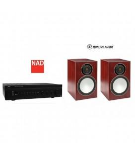 Amplificator NAD C 326BEE cu Boxe Monitor Audio Silver 2