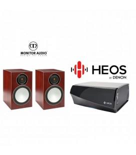 Amplificator Denon Heos Amp cu Boxe Monitor Audio Bronze Silver 2