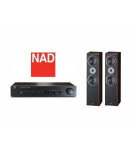 OPEN BOX - Amplificator NAD C 316BEE, amplificator stereo hi-fi cu boxe de podea Magnat Supreme 802