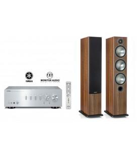 Amplificator Yamaha A-S701 Silver cu Boxe de podea Monitor Audio Bronze 6