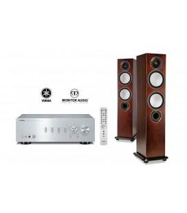 Amplificator Yamaha A-S701 Silver cu Boxe de podea Monitor Audio Silver 6