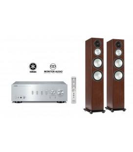Amplificator Yamaha A-S701 Silver cu Boxe de podea Monitor Audio Silver 8