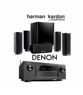 Receiver DENON AVR-X2300 cu Set Boxe 5.1 Harman Kardon HKTS 16