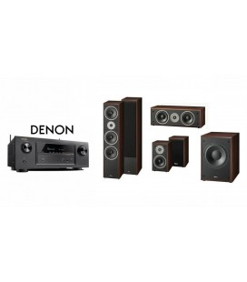 Receiver Denon AVR-X2300 cu Set Boxe 5.1 Magnat Supreme 1002, Center 252, 102, Sub 302A