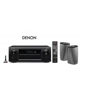 Receiver AV 11.2 Denon AVR-X6300H Black cu Denon Heos 1 HS2 Duo Pack