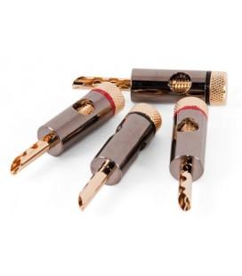 Conectori cablu tip banana Proson V.2 Black Chrome-Gold - set 4 bucati