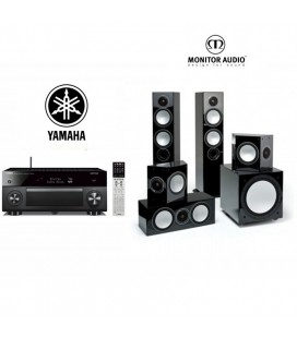 Receiver Multicanal Yamaha R-A3060 cu set boxe 5.1 Monitor Audio Silver 10 5.1 pack