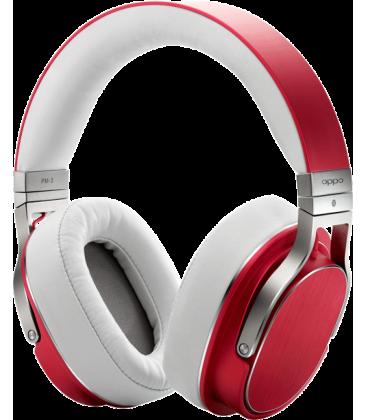 Casti on Ear cu microfon Hi-Fi Oppo PM-3 Red, compatibile iOS, Android