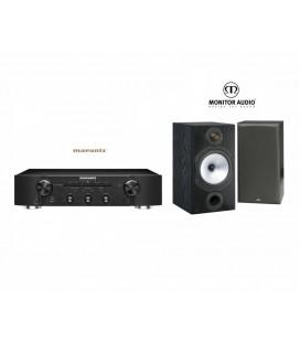 Amplificator stereo Marantz PM5005 Black cu Boxe Monitor Audio MR2