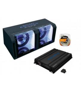 Pachet subwoofer auto Crunch GTS 800 Dual Bass Pack