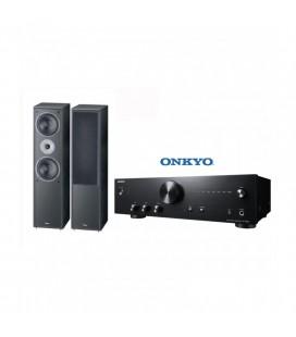 Amplificator stereo hi-Fi Onkyo A-9010 Black cu DAC integrat si boxe Magnat Supreme 802