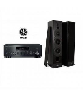 Receiver wi-fi stereo Yamaha R-N602 cu Boxe de podea Dynavoice Definition DF-8 - pereche