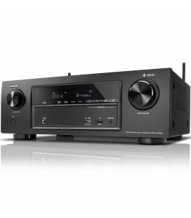 Receiver AV 7.2 Denon AVR-X1400H, 145W per channel, HEOS built-in, Wi-Fi, Airplay, Bluetooth, 4K Ultra HD, Hi-Res
